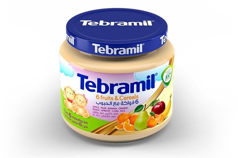 6 Fruits & Cereals Tebramil Jars by Pharmex