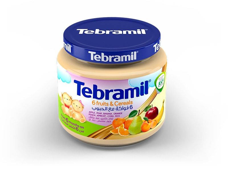 Tarrito Tebramil 6 Frutas y Cereales de Pharmex